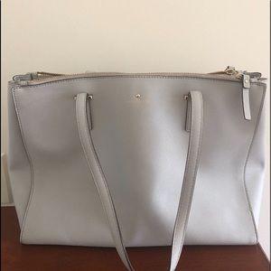 White/baby blue Kate spade purse
